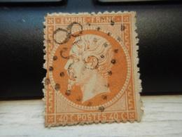 Timbre  Napoléon III   Empire Franc 40 C Oblitéré  Y&T 16. 898 Abîmé - 1862 Napoléon III