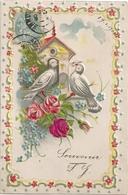 Souvenir  Colombes Carte Gaufrée - Fêtes - Voeux