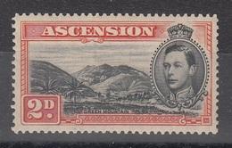 ASCENSION 1938 2d BLACK ORANGE SG 41 D.13 1/2   MLH - Ascension