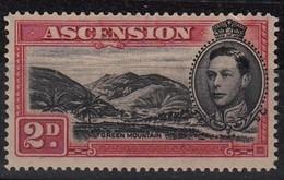 ASCENSION 1938 2d BLACK SCARLET SG 41c D.14   MLH - Ascension