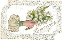 Anniversaire  Carte Gaufrée - Birthday
