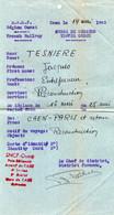 05 1945  Ordre De Mission SNCF Région Ouest Pour La Reconstruction - Marcophilie (Lettres)