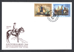 Sale -  2016 The 260th Anniversary Of Postal Delivery In Cuba  (CTO)  - FDC Cuba - FDC