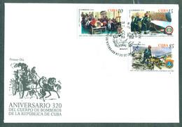 2016 The 320th Anniversary Of Cuba Fire Department  (CTO)  - FDC Cuba - FDC