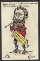 CPA Jean JAURES Maçonnique Masonic Satirique Caricature Original Fait Main Tambourin Viticulteurs Du Midi 1907 - Philosophie & Pensées