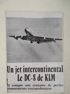 Publicité KLM DC-8  - Coupure De Presse De 1964 - Vluchtmagazines