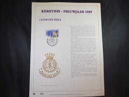 "BELG.1989 2345  FDC Filatelic Gold Card NL. : "" KERSTMIS "" - FDC"