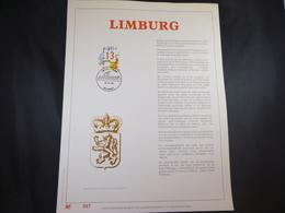 "BELG.1989 2338 FDC Filatelic Gold Card NL. : "" LIMBURG "" - FDC"