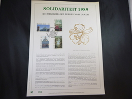 "BELG.1989 2340/43 FDC Filatelic Gold Card NL. : "" SERRES VAN LAKEN "" - FDC"