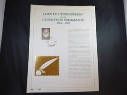 """BELG.1989 2337 FDC Filatelic Gold Card NL. : """" LIGUE DE L'ENSEIGNEMENT ET..."""" - FDC"""