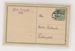SLOVENIA,Austria 1916  CILLI CELJE Postal Stationery FRANZ ZANGGER Perfin - Eslovenia