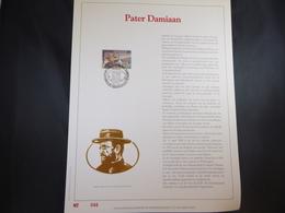 "BELG.1989 2346 FDC Filatelic Gold Card NL. : "" PATER DAMIAAN "" - FDC"