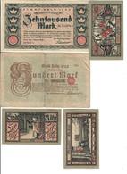 KOLN Colonia  10000  MARK 1923 + 100 Mark 1922 + 3 X 50 Pfennig LOTTO 1938 - [ 3] 1918-1933 : Repubblica  Di Weimar