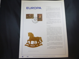 "BELG.1989 2323/2324 FDC Filatelic Gold Card NL. : "" EUROPA "" - FDC"