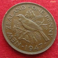 New Zealand 1 One Penny 1947 KM# 13 *V2 Nova Zelandia Nuova Zelanda Nouvelle Zelande - Nuova Zelanda