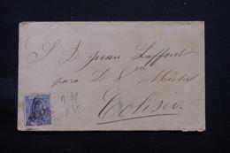 CUBA - Enveloppe Pour Coliseo En 1880, Affranchissement Plaisant, à Voir - L 57344 - Cuba (1874-1898)
