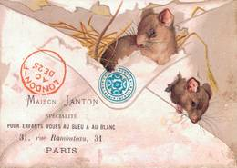RARE CHROMO POSTER DE LONDON Maison Janton   SOURIS EN RELIEF - Chromos