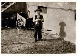 Photo Originale Déguisement D'enfant - Portrait Du Fils De Lucky Luke & Son Ombre Vers 1950/60 - Anonymous Persons