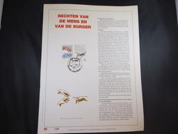 """BELG.1989 2327 FDC Filatelic Gold Card NL. : """"RECHTEN VAN DE MENS """" - FDC"""