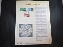 "BELG.1989 2315/2317 FDC Filatelic Gold Card NL. : "" KANTWERK"" - FDC"