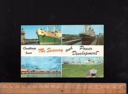 MASSENA New York State : Lawrence Seaway Eisenhover Lock Tunnel Maritime Vessel Gladys Bowater Cargo Ship Bateau Navire - NY - New York