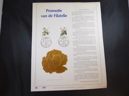 """BELG.1989 2318/2319 FDC Filatelic Gold Card NL. : """" PROMOTIE VAN DE FILATELIE """" - FDC"""
