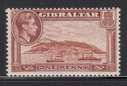 GIBILTERRA 1938 1d  RED BROWN  SG 122b  D.13   MLH - Gibraltar