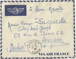 Lettre Par Avion Indochine Française - Indochine (1889-1945)