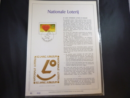 "BELG.1984 2128 FDC Filatelic Gold Card NL. : "" NATIONALE LOTERIJ "" - FDC"
