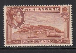 GIBILTERRA 1938 1d  YELLOW BROWN  SG 122  D.14   MLH - Gibraltar