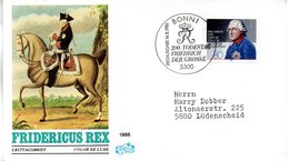 """BRD Schmuck-FDC """"200. Geburtstag Von König Friedrich Dem Großen"""" Mi. 1292 ESSt 14.8.1986 BONN 1 - FDC: Enveloppes"""