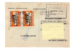 P0346 AVVISO DI RICEVIMENTO 1968 COPPIA CINQUANTENARIO VITTORIA L. 20 - 6. 1946-.. Repubblica