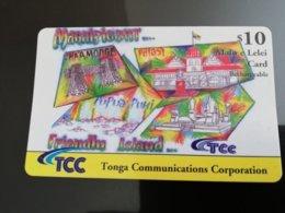 TONGA $10,-    Rechargeble  Malo E Lelei Card Fine Used Card  ** 1225** - Tonga