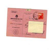 P0355 AVVISO DI RICEVIMENTO 1946 DEMOCRATICA L. 4 ISOLATO - 6. 1946-.. Repubblica
