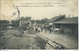 Andresy,chez Dupuis Marchand De Charbons,vue Intérieure Du Chantier De L'avenue - Andresy