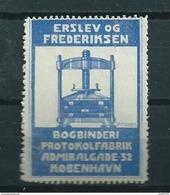 Denmark Vignet Erslev OG Frederiksen - Dinamarca