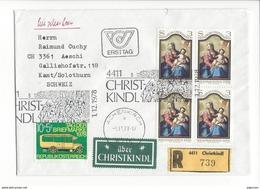 20986 -  Christkindl 01.12.1978 Lettre Recommandée Pour Aeschi + Vignette über Christkindl - Christmas