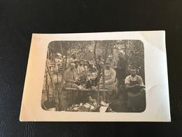 CARTE PHOTO Repas En Campagne 105 Regiment D'Infanterie (Photographe CORRÉARD à VOIRON) - Guerre 1914-18