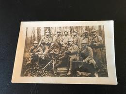 CARTE PHOTO Section Mitrailleurs (Hotchkiss) - Guerre 1914-18