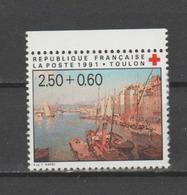 FRANCE / 1991 / Y&T N° 2733a ** : Croix-Rouge (Port De Toulon) De Carnet X 1 BdC Haut - Unused Stamps