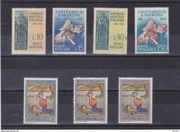 VATICAN 1961 SAINT PATRICK NOËL Yvert 331-334 + 341-343 NEUF** MNH - Vatican