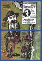 CPM Viticole Puzzle De 2 Cartes Tirage Limité 30 Ex Numérotés événements Viticoles 1907 Clemenceau Narbonne Montéhus - Satirical