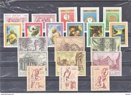 VATICAN 1976 Année Complète Yvert 611-627 + PA 60-62 NEUF** MNH - Vatican
