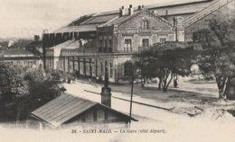 CPA - Saint-Malo 35 - La Gare (Côté Départ) - Saint Malo