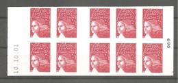 CARNET LUQUET 2001. Y&T N° 3419-C2** Neuf De Guichet > 10 TVP Rouge RF.Type II. Daté Du 10.10.01. TB. - Markenheftchen