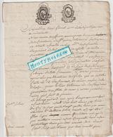 Vieux Papier :  Mayenne ?  Du Terroux ?, Cachet, - Vieux Papiers