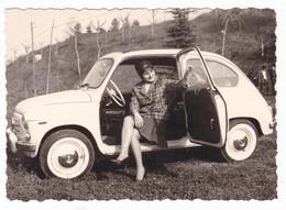 "AUTOMOBILE - AUTO - CAR - FIAT ""600"" - DONNA - FOTO ORIGINALE - Automobili"