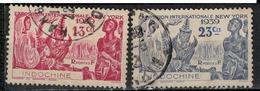 INDOCHINE            N°  YVERT     203/204  ( 2 )    OBLITERE       ( OB 07/17 ) - Usati