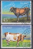 +Iceland 2003. Cows. AFA 1015-16.  Cancelled - Oblitérés