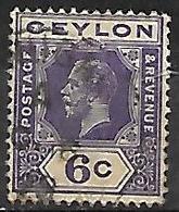 CEYLAN      -    1921 .  Y&T N° 208 Oblitéré - Ceylan (...-1947)